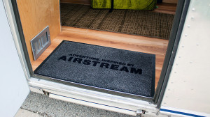 We acquired a needed entry mat while at the Airstream headquarters.