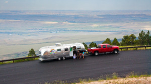 Buckhorn Mountains with the Airstream heading to Yellowstone
