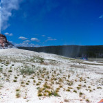 White Dome Geyser in Yellowstone
