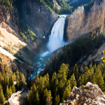 Lower Falls of Grand Canyon of Yellowstone National Park