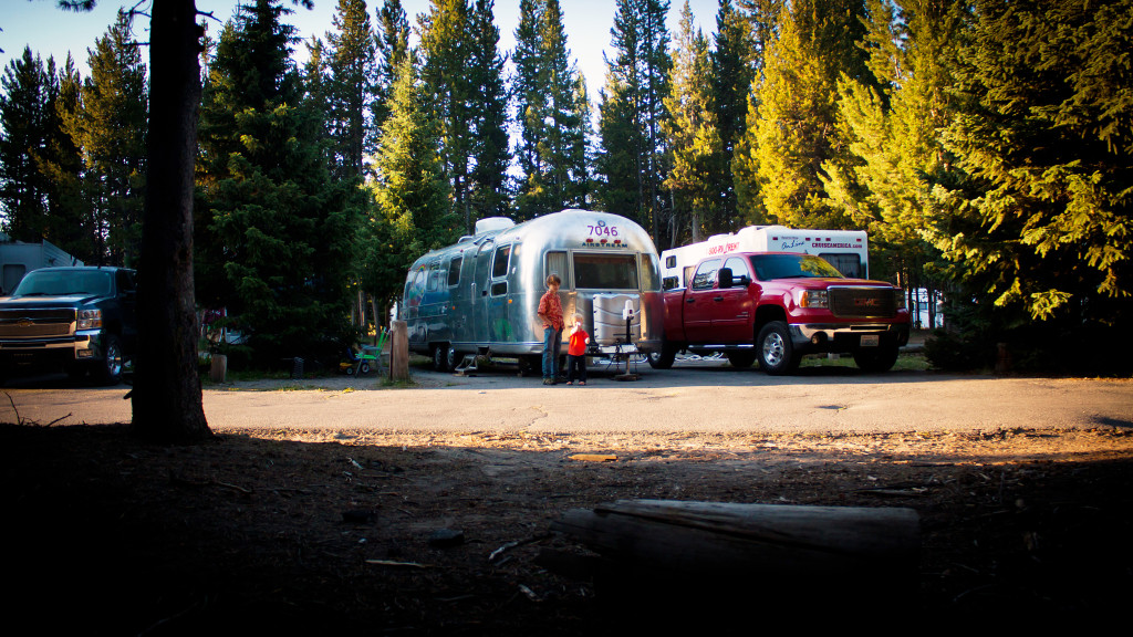 Fishing Bridge RV Park in Yellowstone National Park