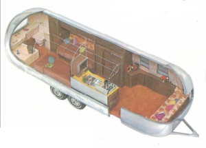 1972 Airstream Sovereign International Layout
