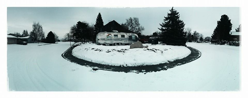 Airstream in snow